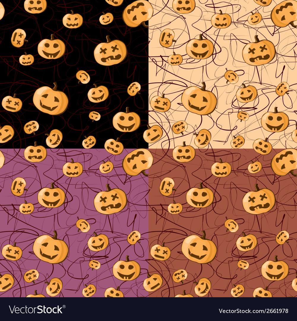 Seamless Halloween pattern background vector image
