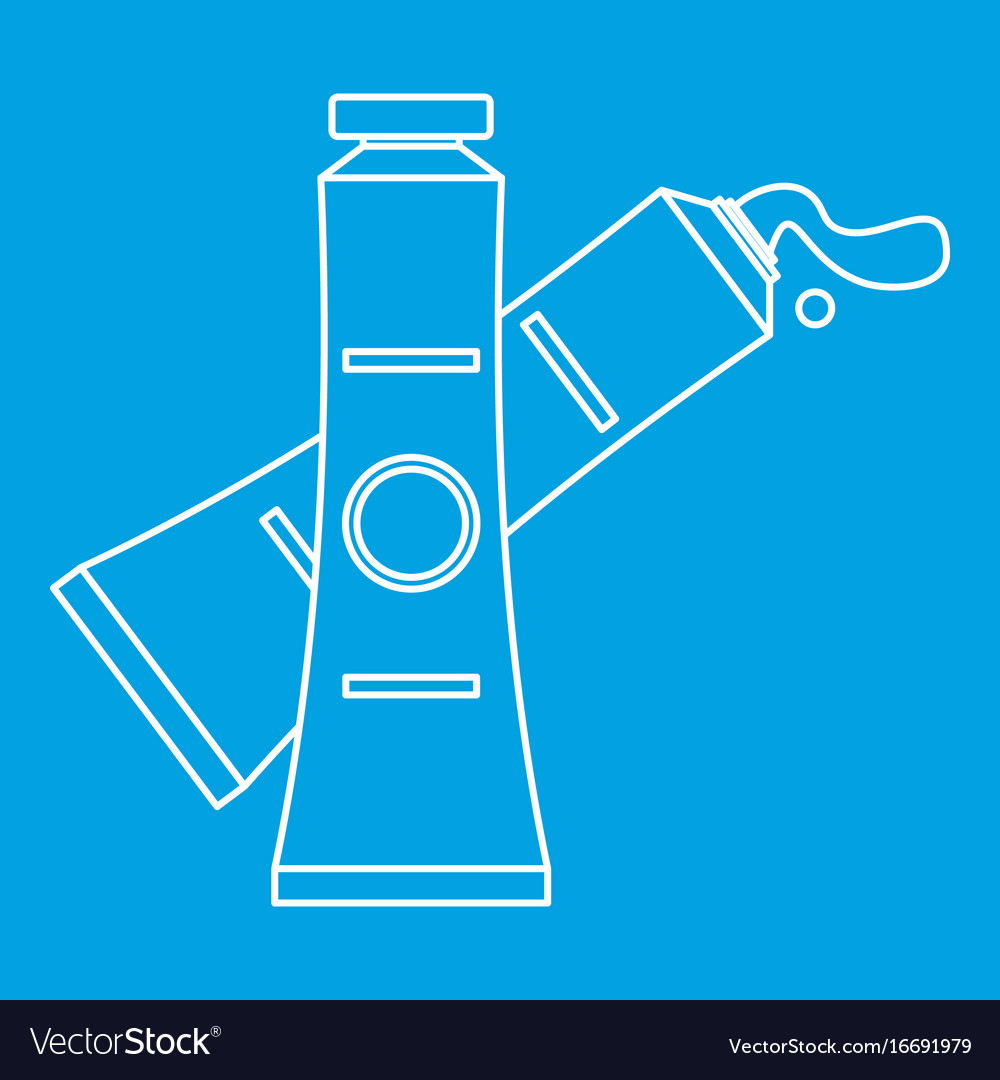 Oil paints icon outline style vector image