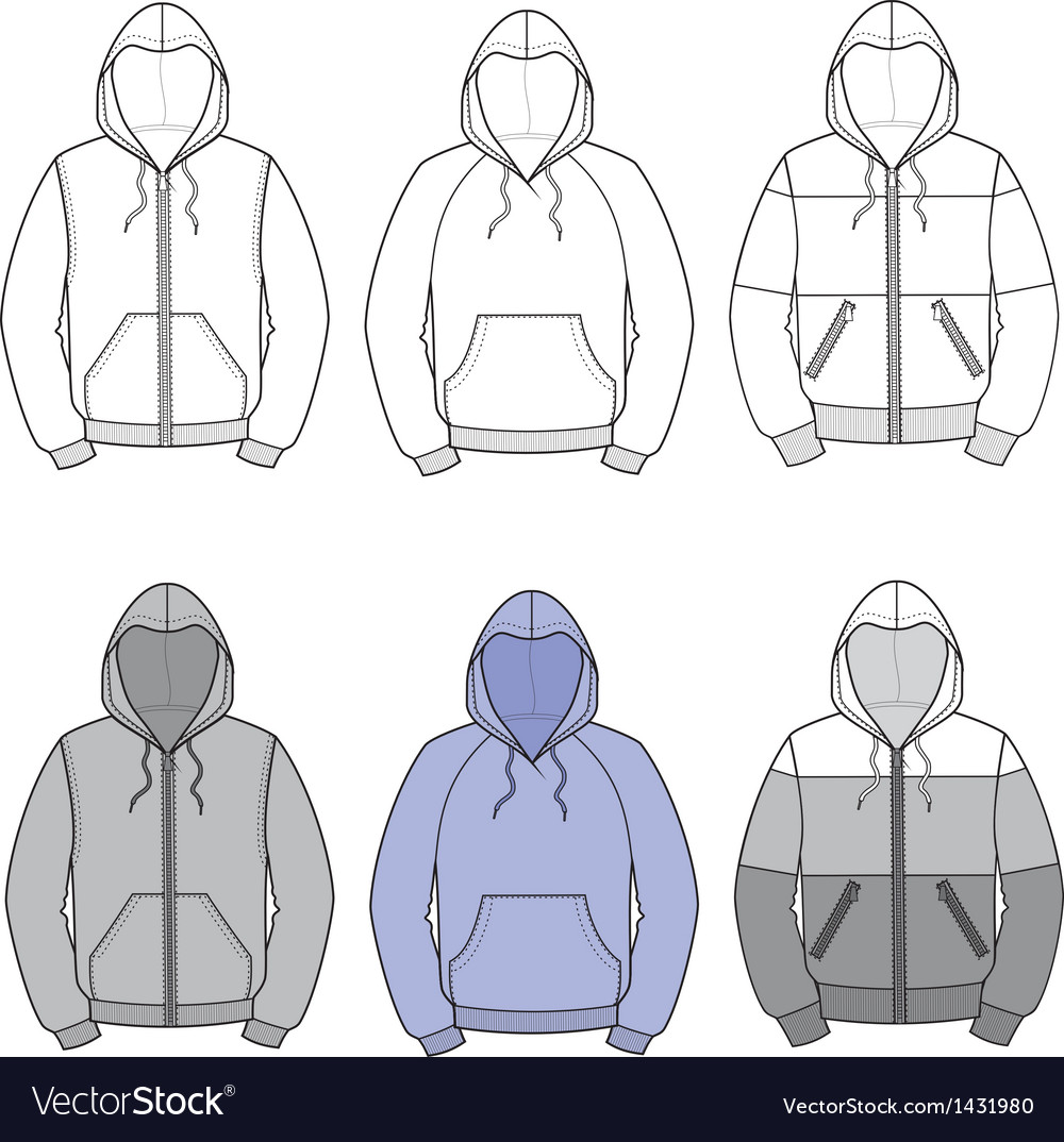 Hoodies vector image