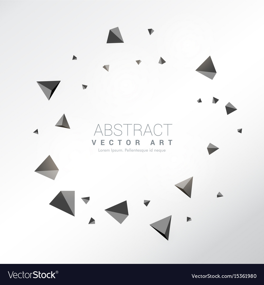 3d triangles frame background vector image