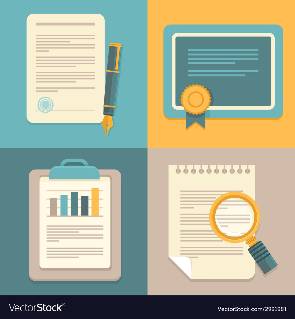 Business document set vector image