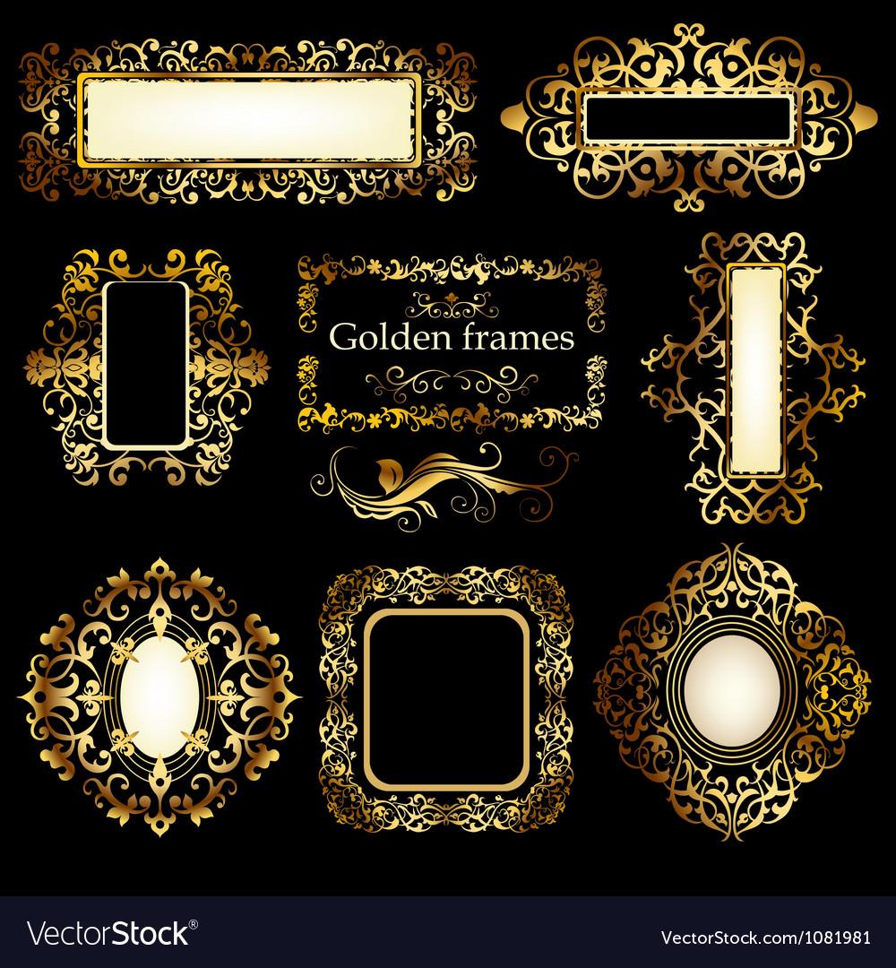 Golden patterns vector image