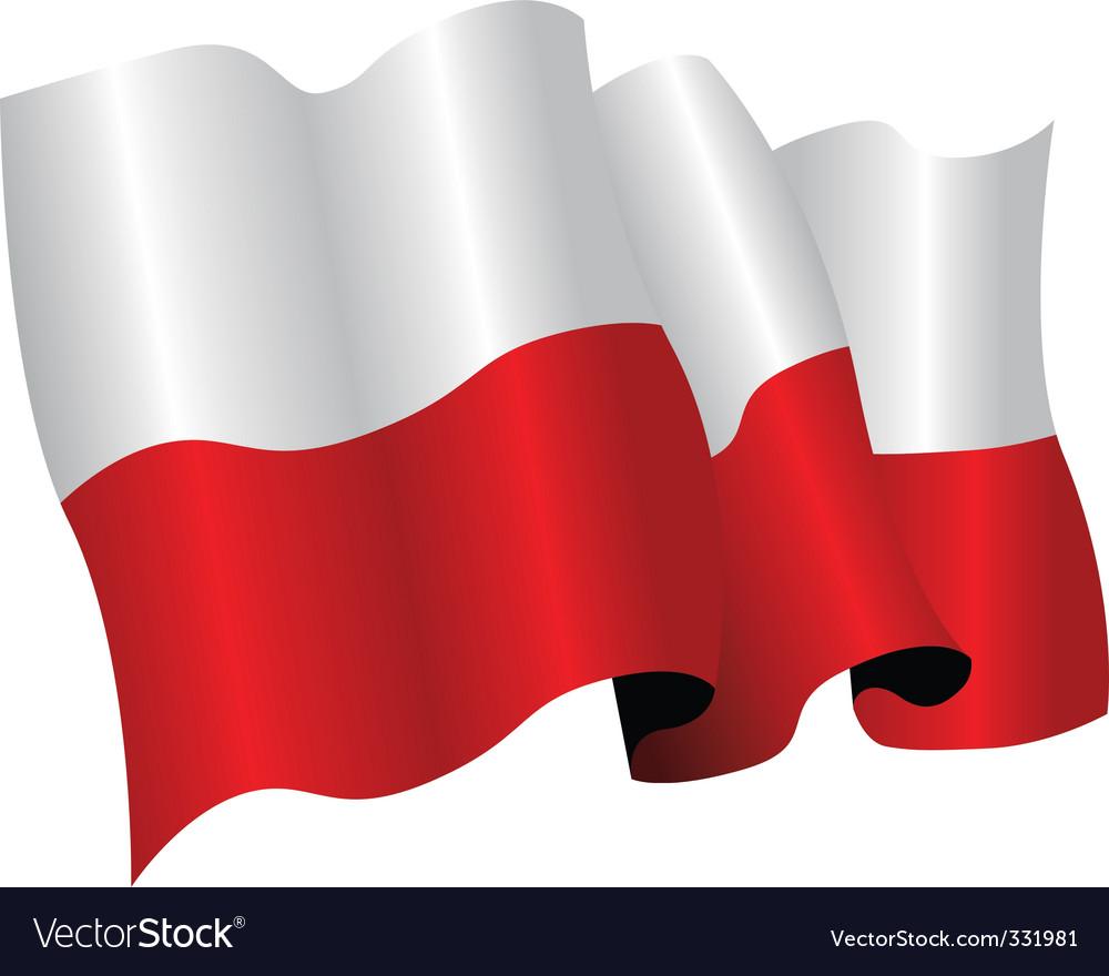 poland flag royalty free vector image vectorstock