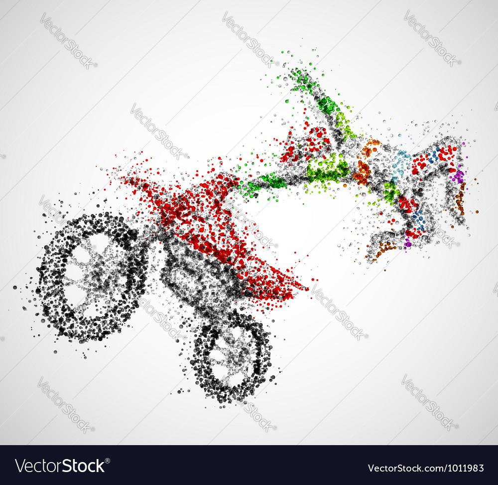Abstract biker vector image