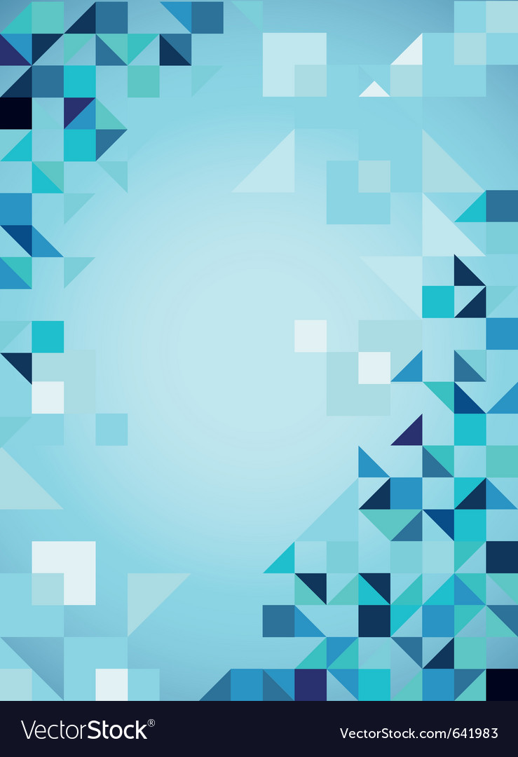 Blue abstract trendy background with triangles vector image