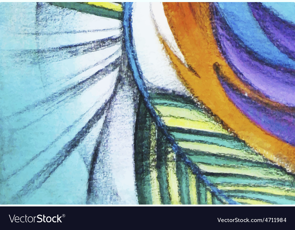 Abstract graphic colorful painting vector image