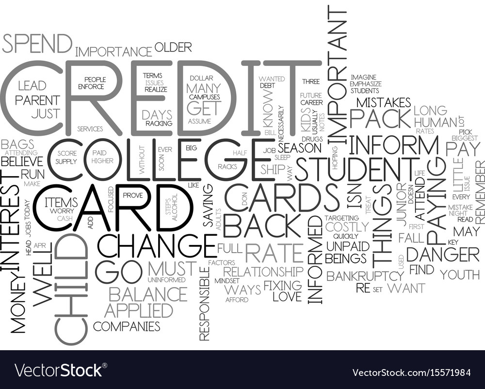 Are credit cards a big danger text word cloud vector image