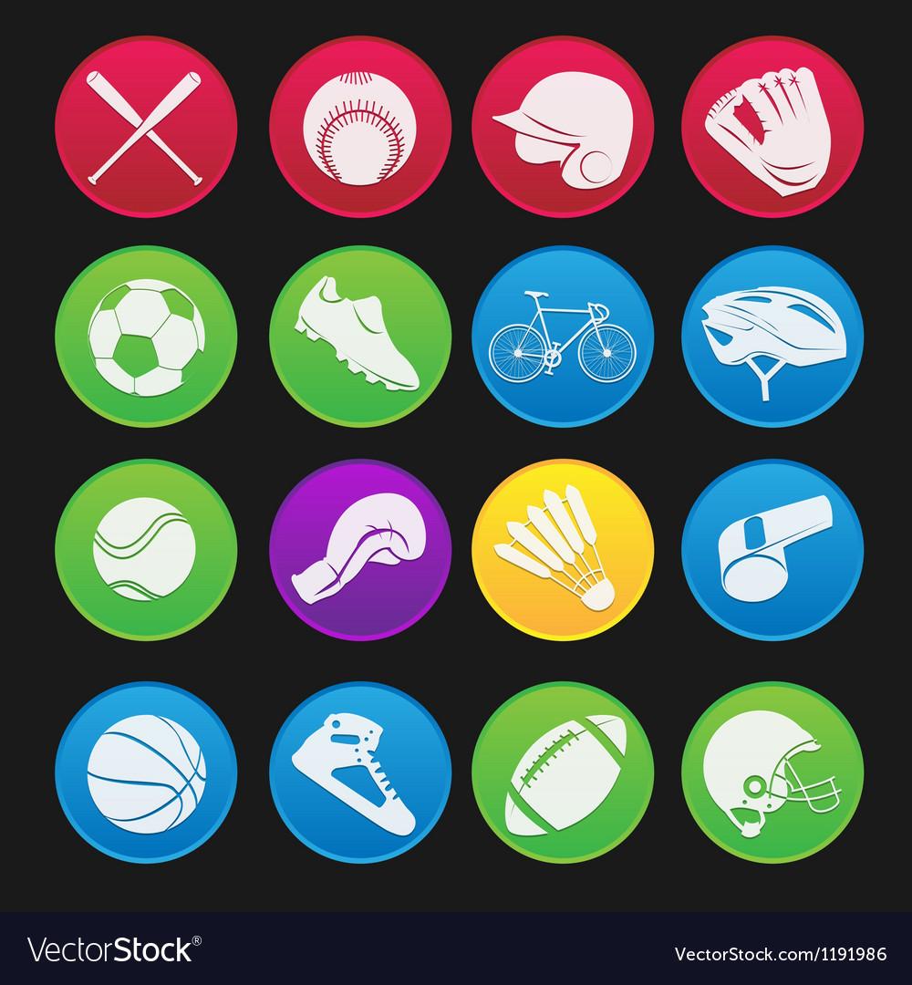 Sport icon gradient style vector image