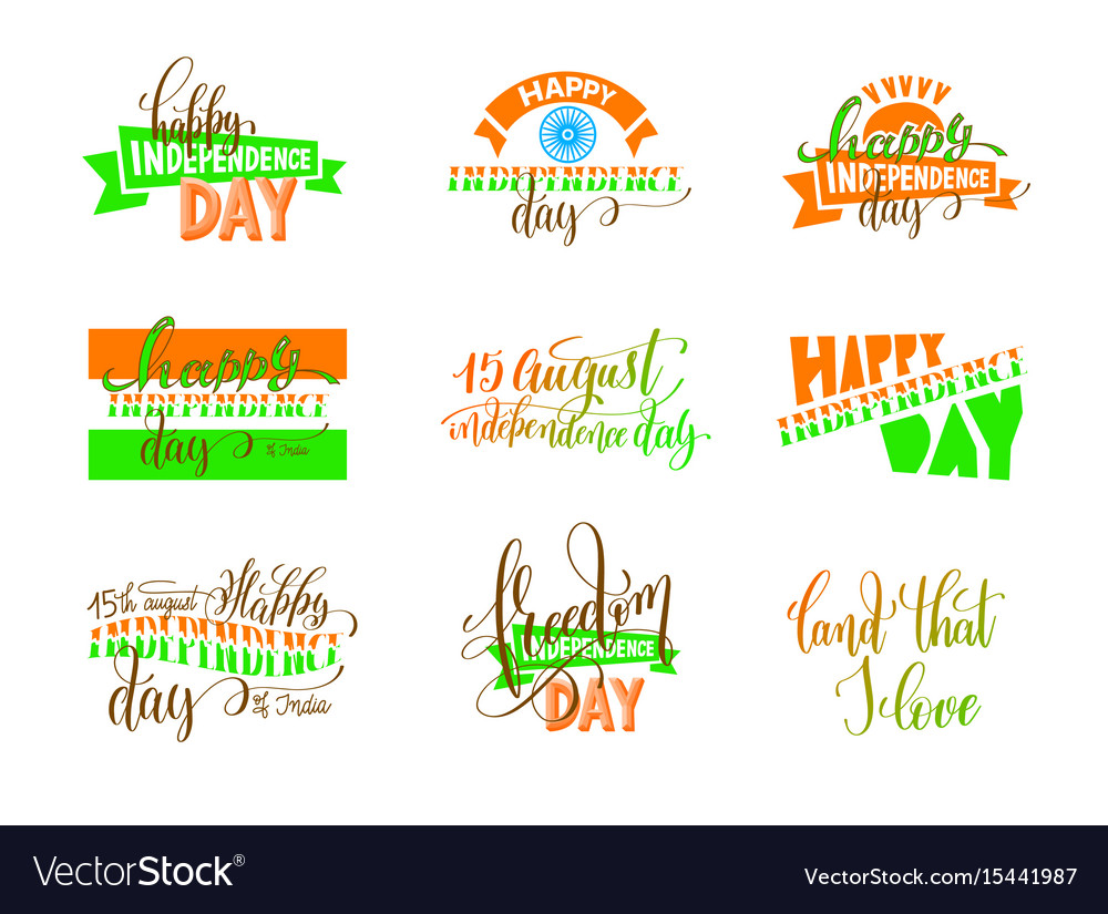 15th of august india independence day logo design vector image
