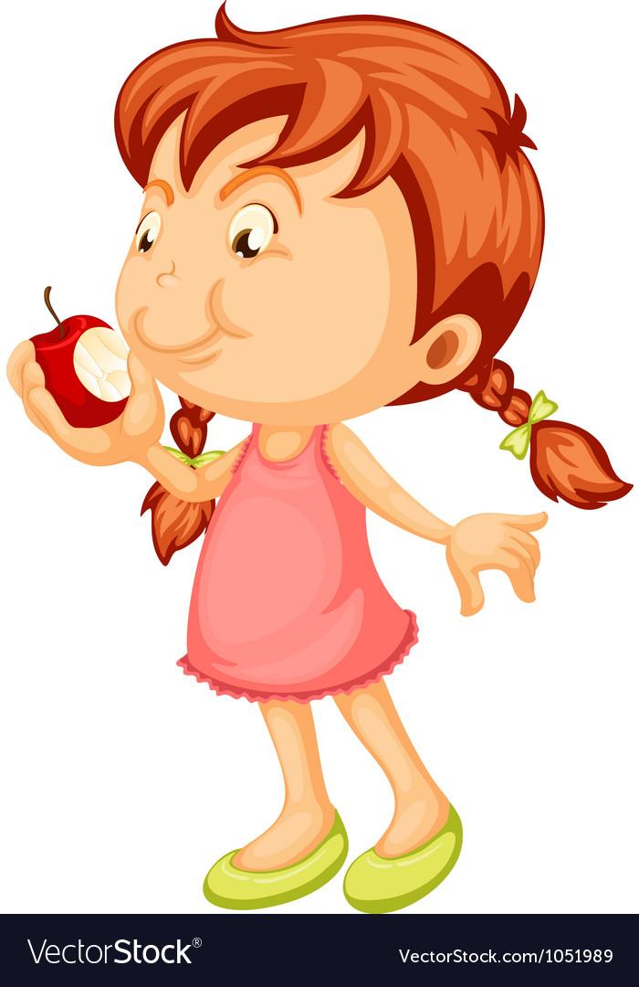 A girl vector image