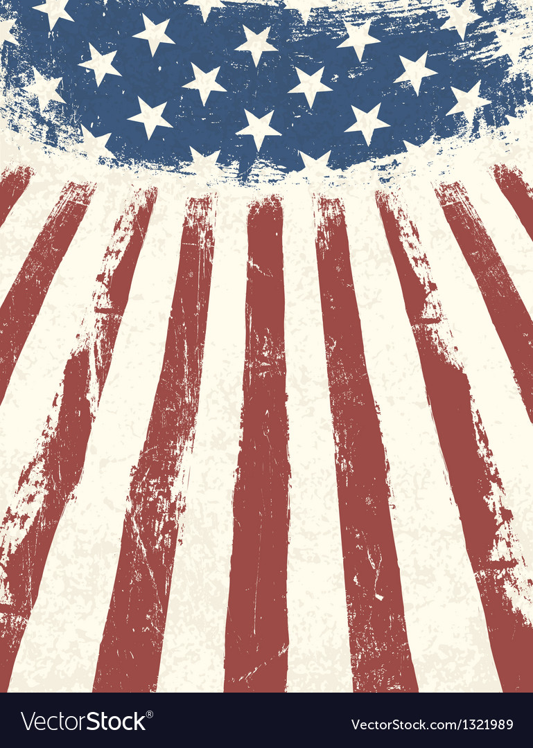 American flag abstract background vector image