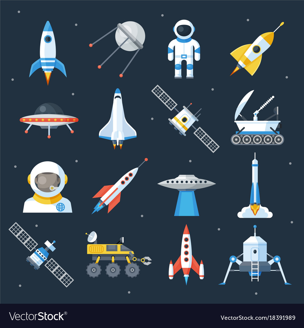 Spacecraft shuttle exploration vector image