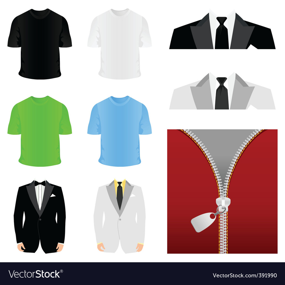 Fashionable clothes vector image