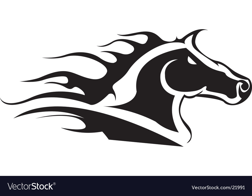 Tribal horse head vector image