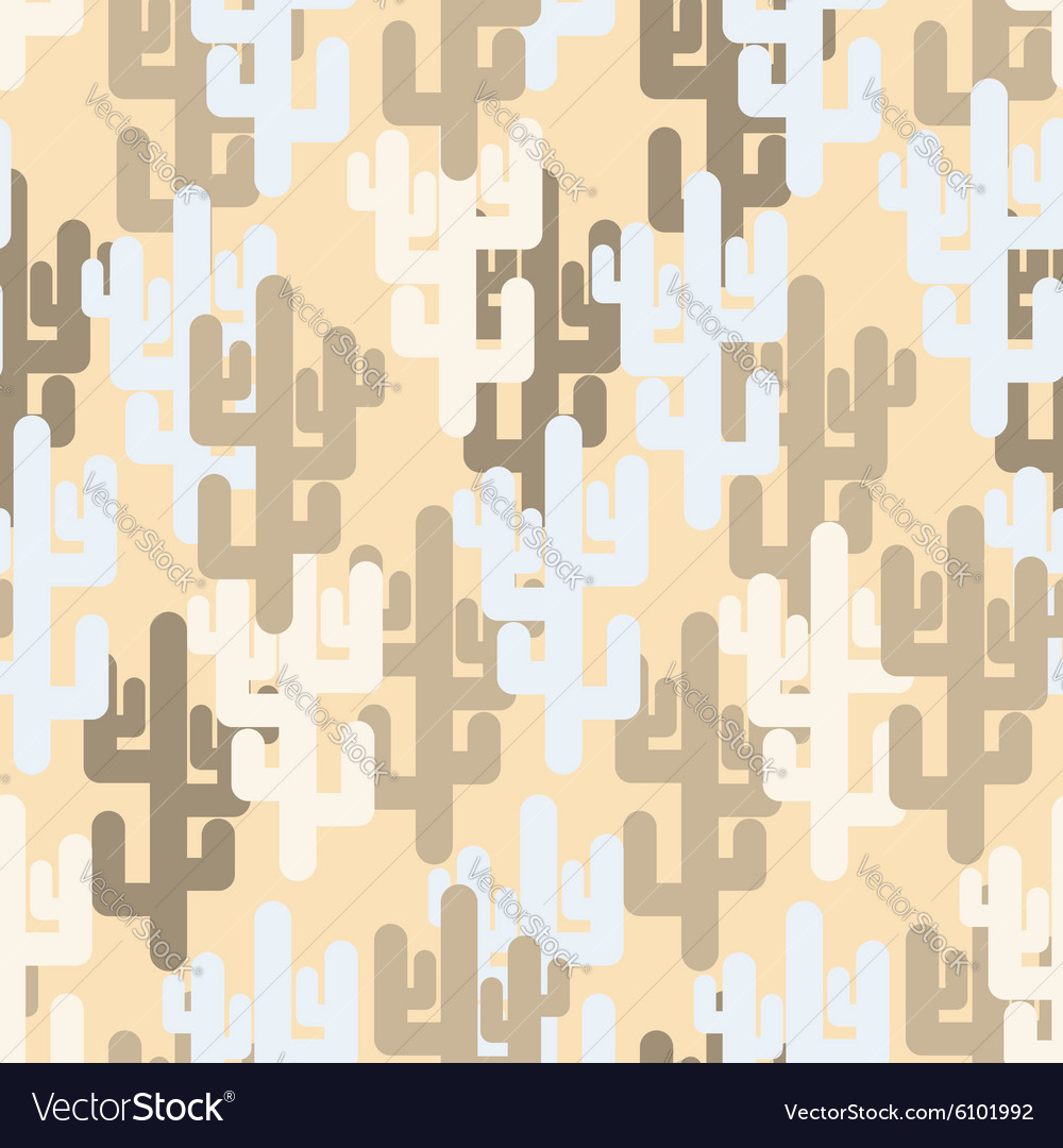 Military texture of cactus Camouflage army desert vector image