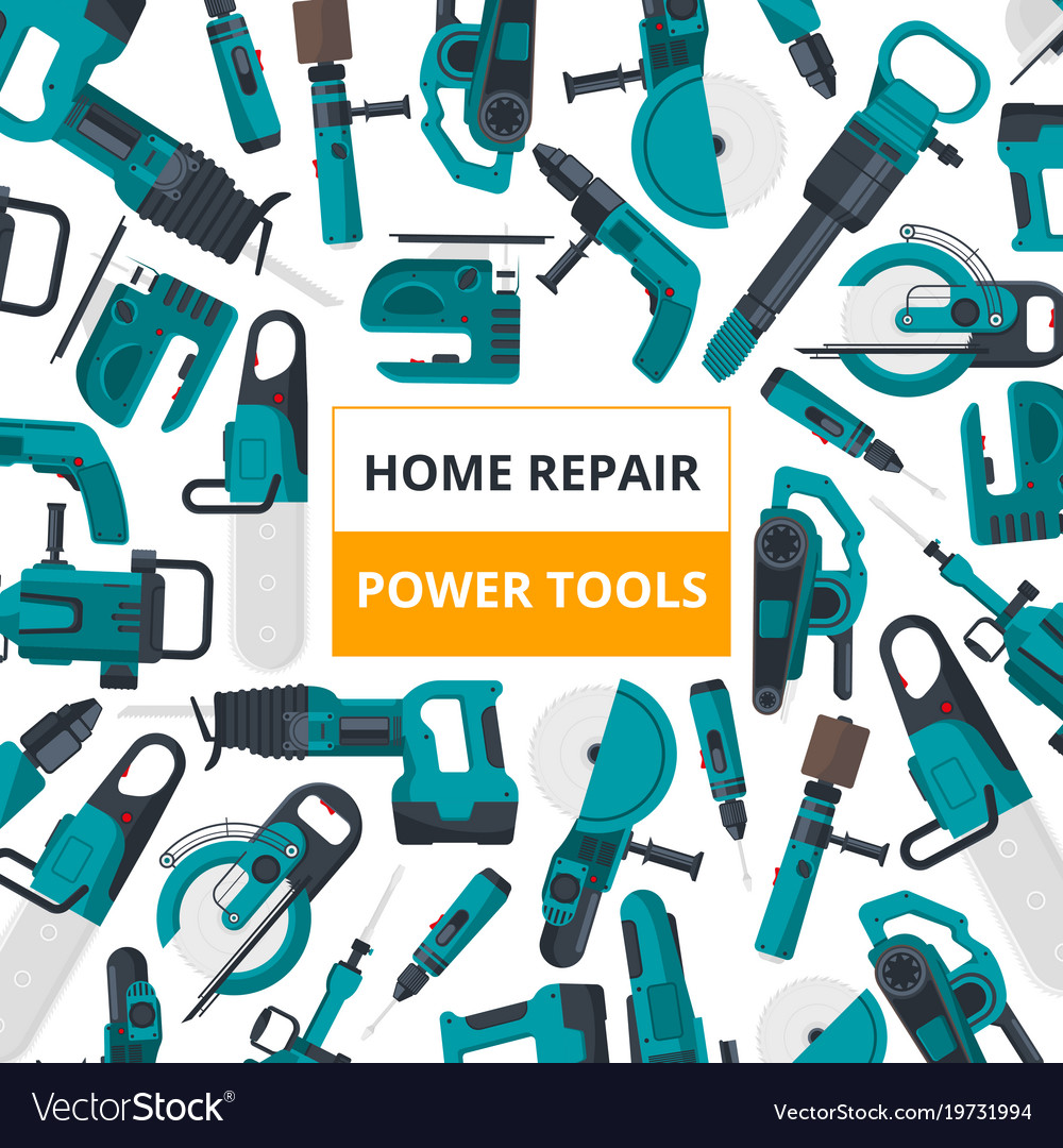 Poster for electrical tools market vector image