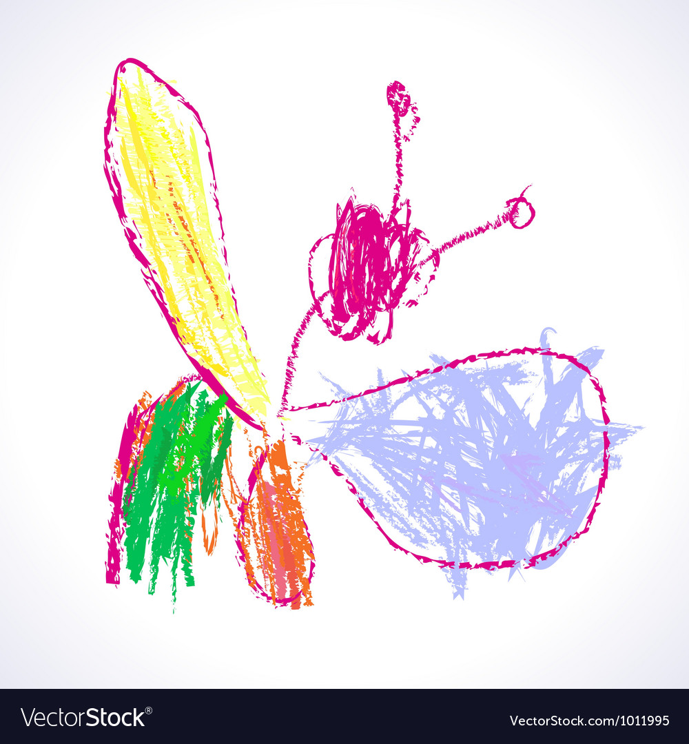 Uncategorized Childrens Drawing childrens drawing butterflies royalty free vector image image