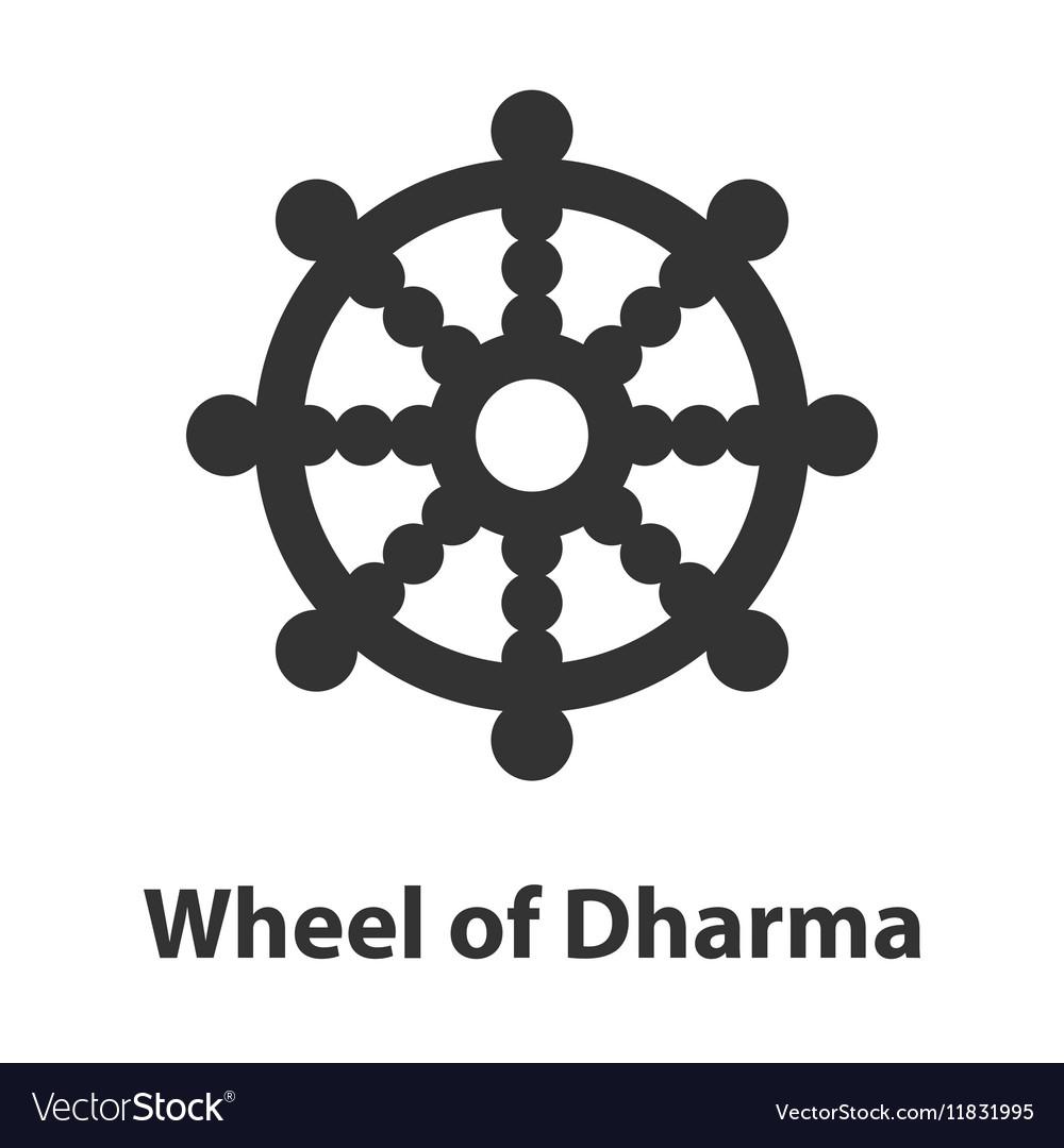 Dharma wheel buddhist religious symbol royalty free vector icon of wheel of dharma symbol buddhism religion vector image buycottarizona