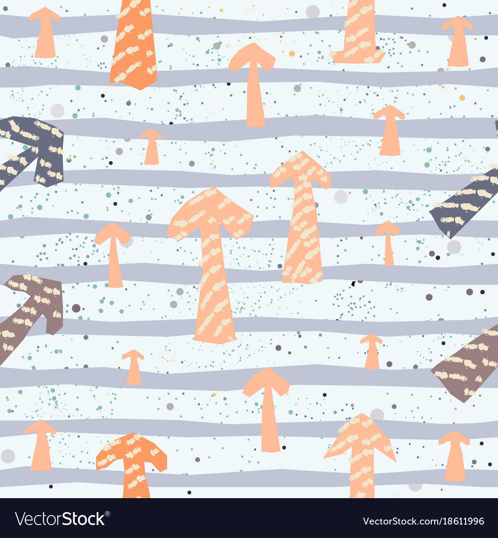 Hand drawn seamless pattern with arrows vector image