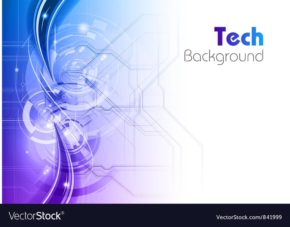 Background line wave light tech blue Vector Image