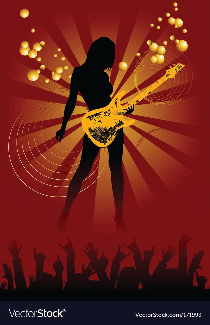 Disco guitar vector image