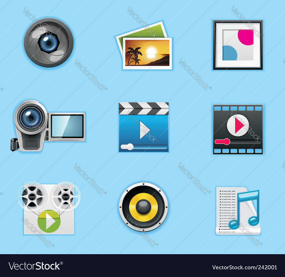 Typical smartphone apps icons vector image