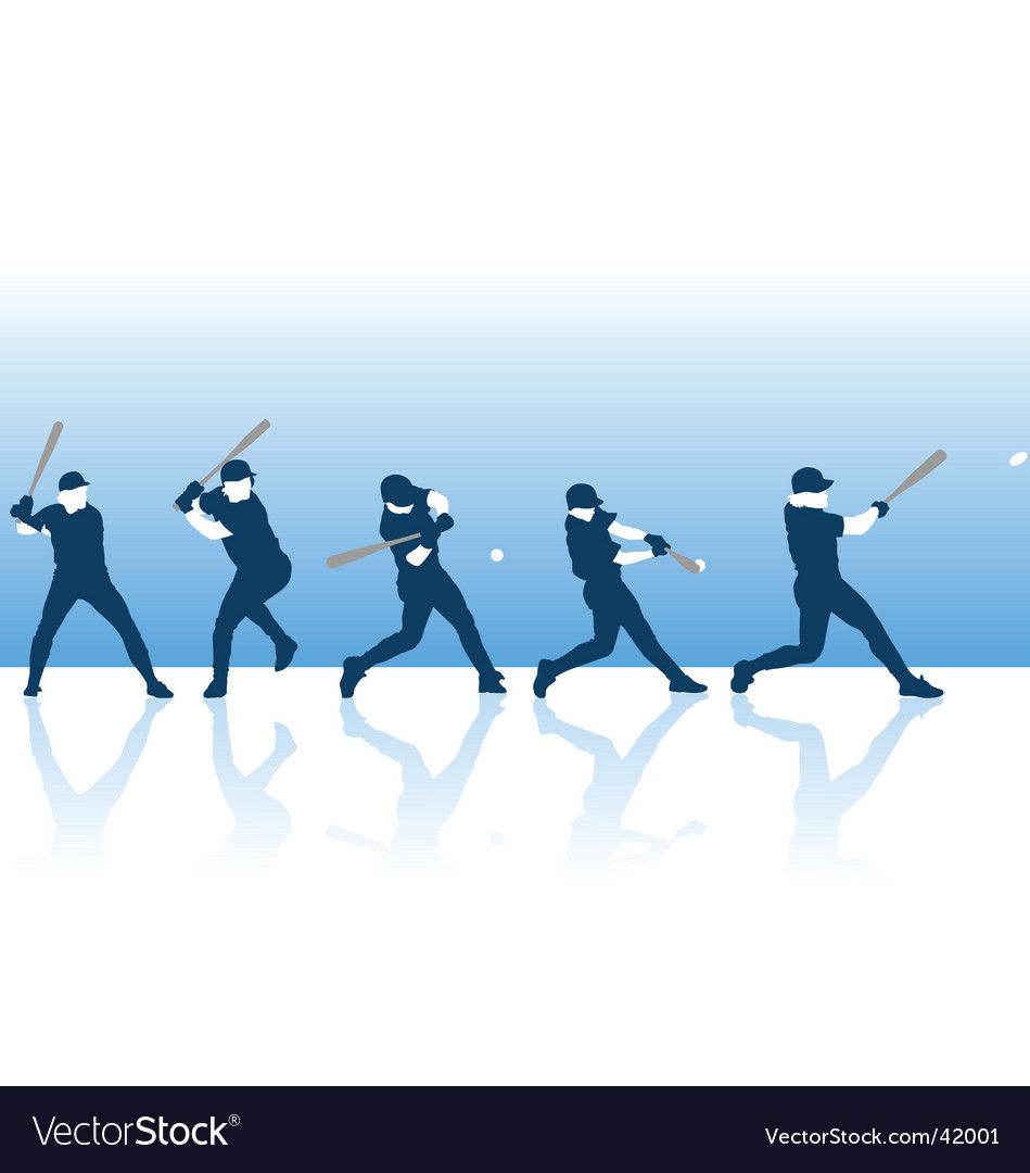 Baseball hit vector image