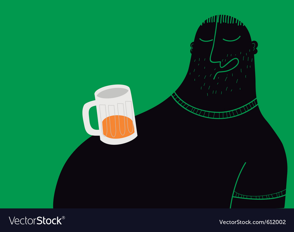 Drunk man sleeping vector image