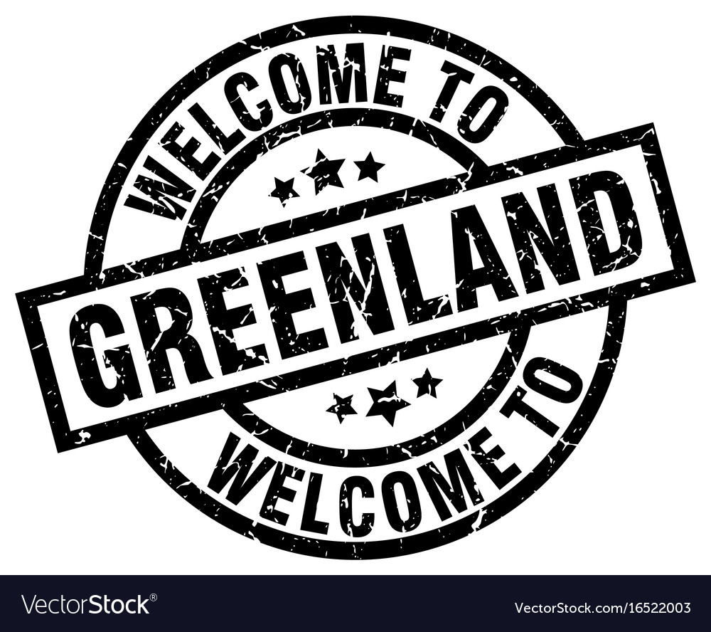 Welcome to greenland black stamp vector image