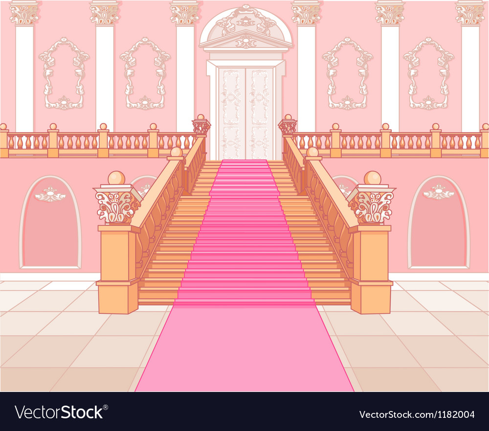 Luxury staircase in palace vector image
