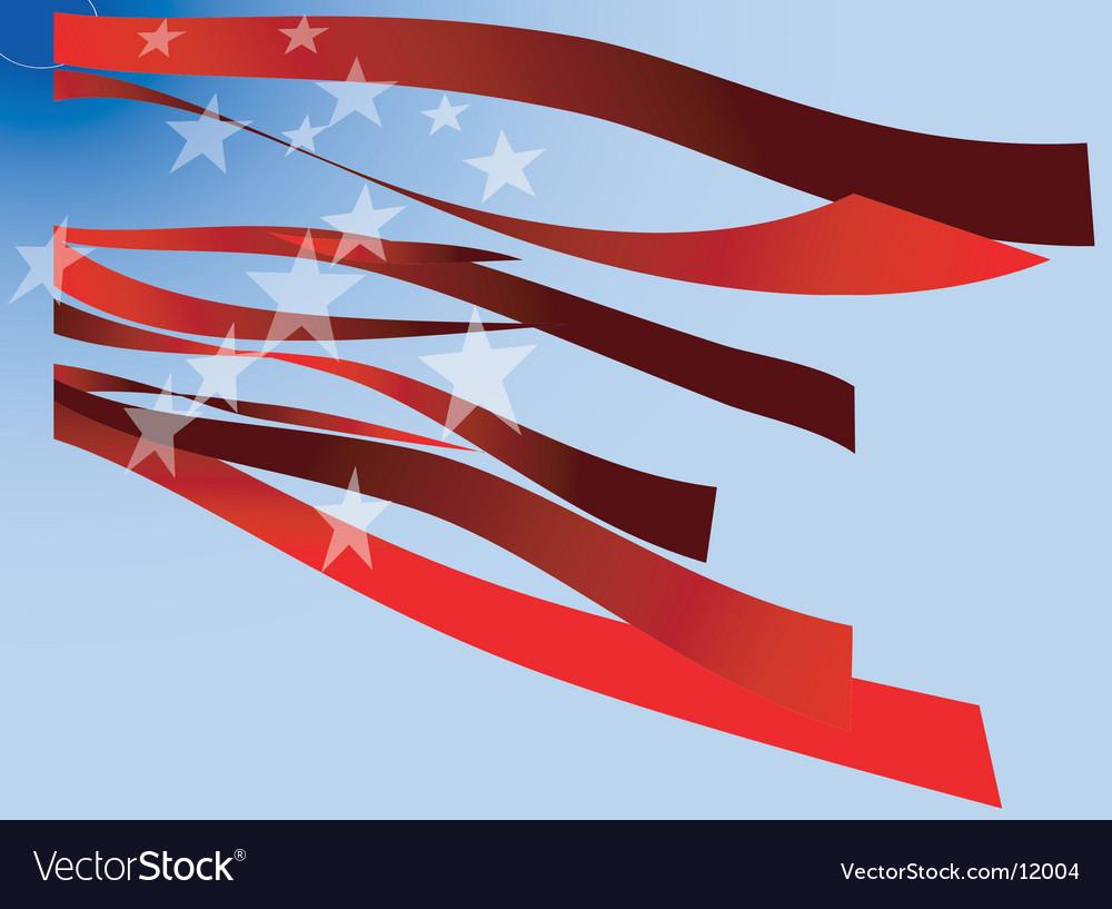 Usa flag stripes and stars vector image