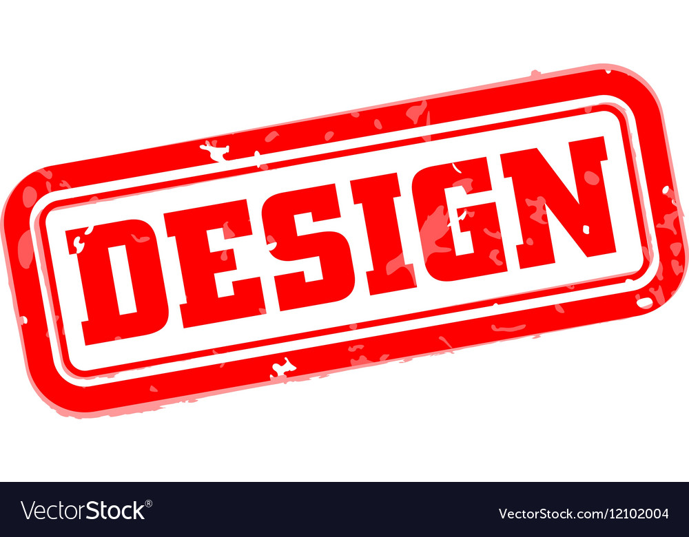 Design rubber stamp vector image