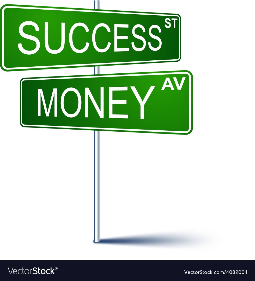 success money direction sign royalty free vector image