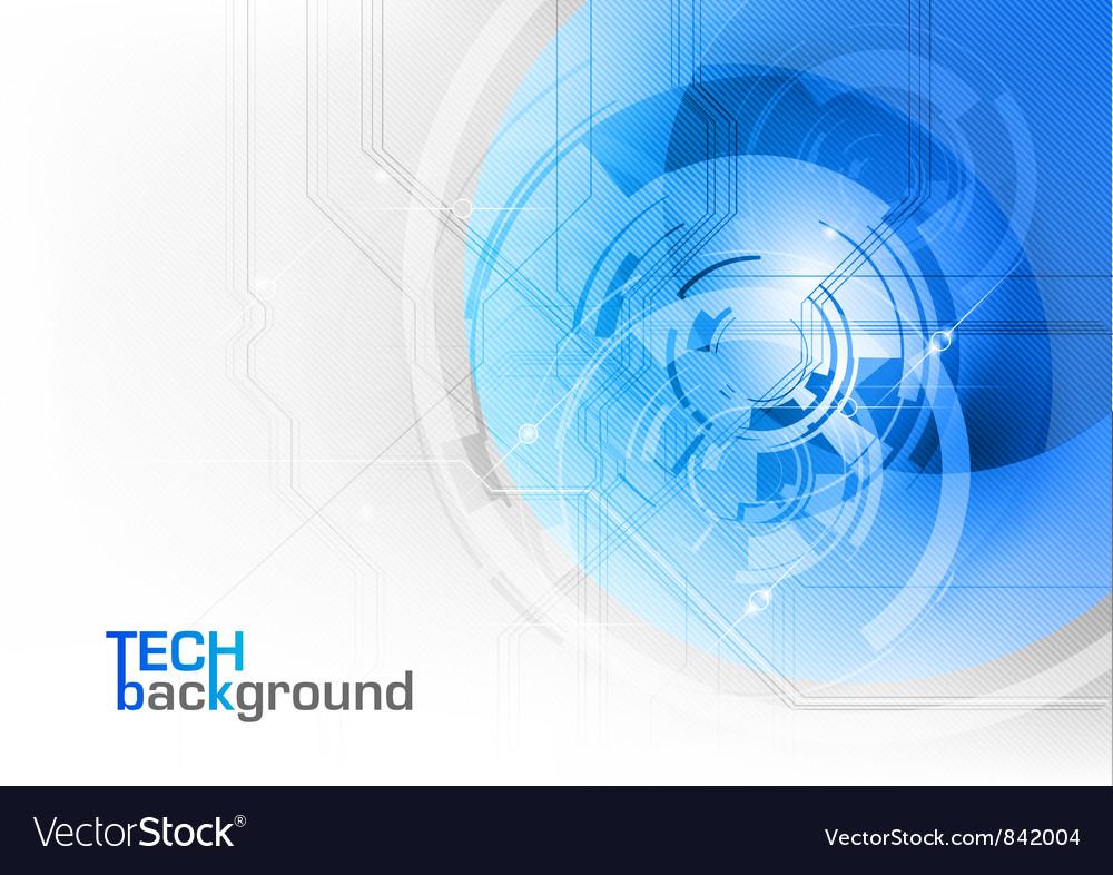 Tech background blue corner round vector image
