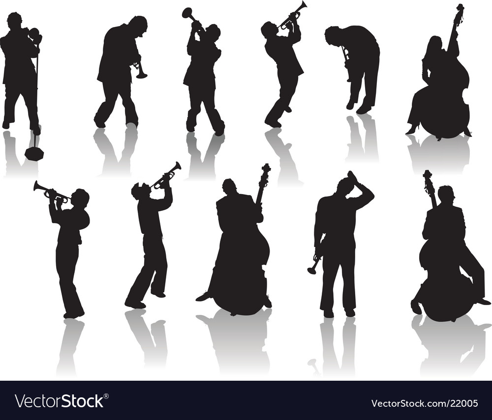 Jazz and music vector image