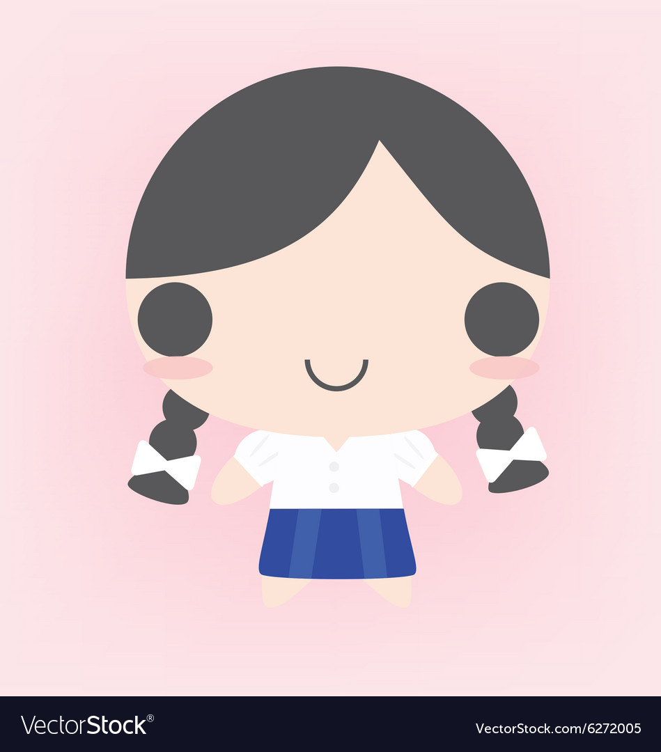 Female Student vector image