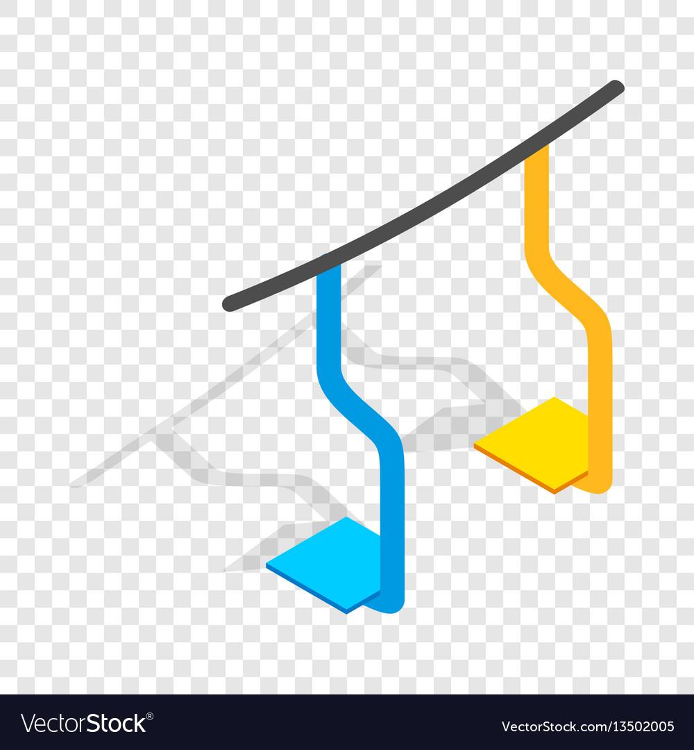 Ski lift isometric icon vector image