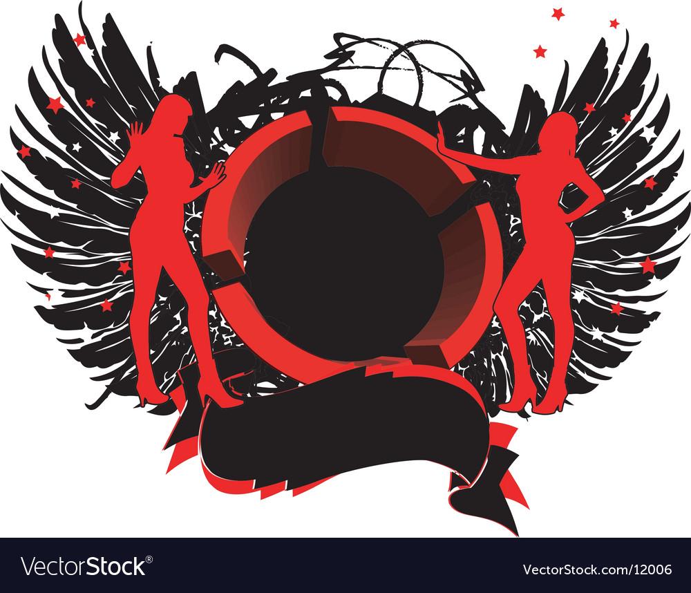 3D female symbol vector image