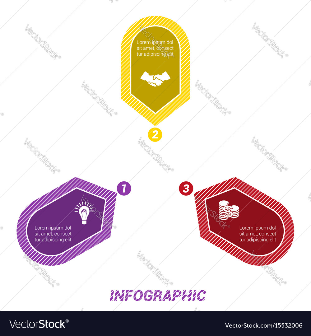 Infographic points arranged in circle three vector image