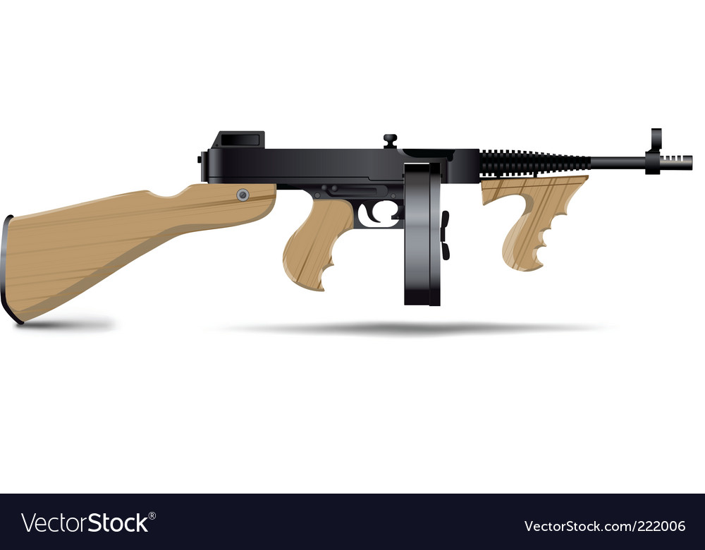 Tommy gun vector image