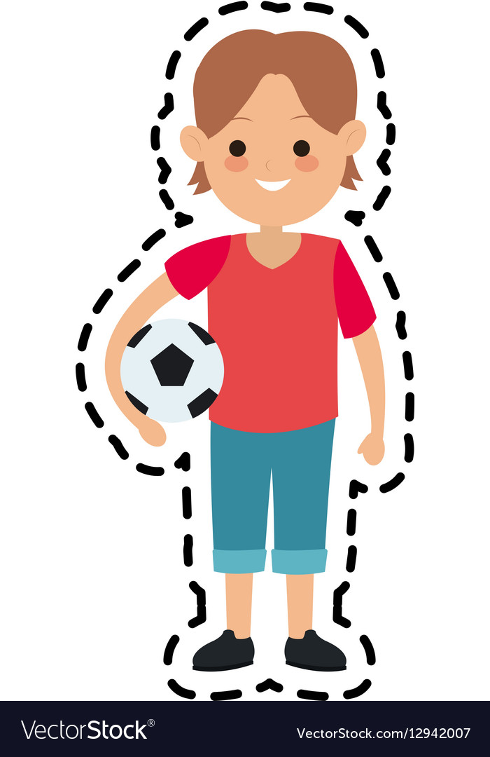 Kid cartoon icon vector image