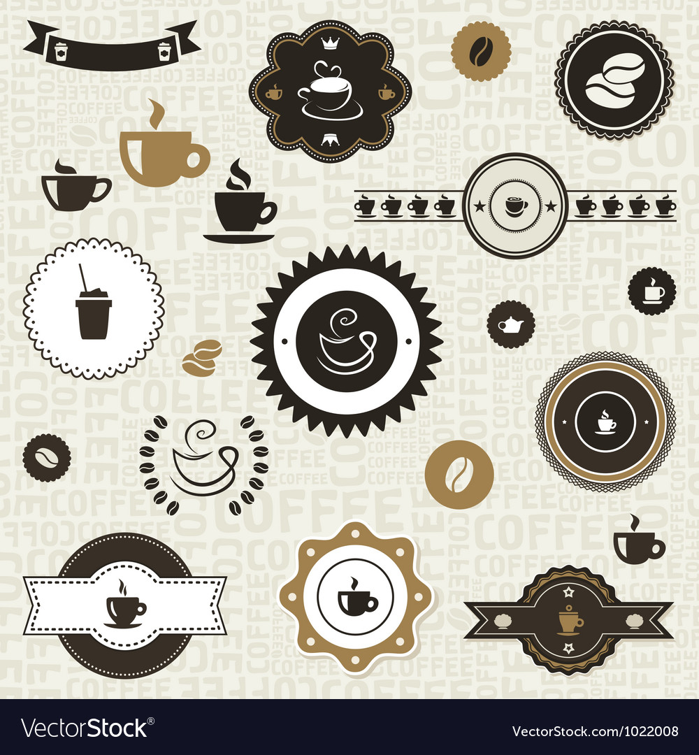 Coffee label2 vector image