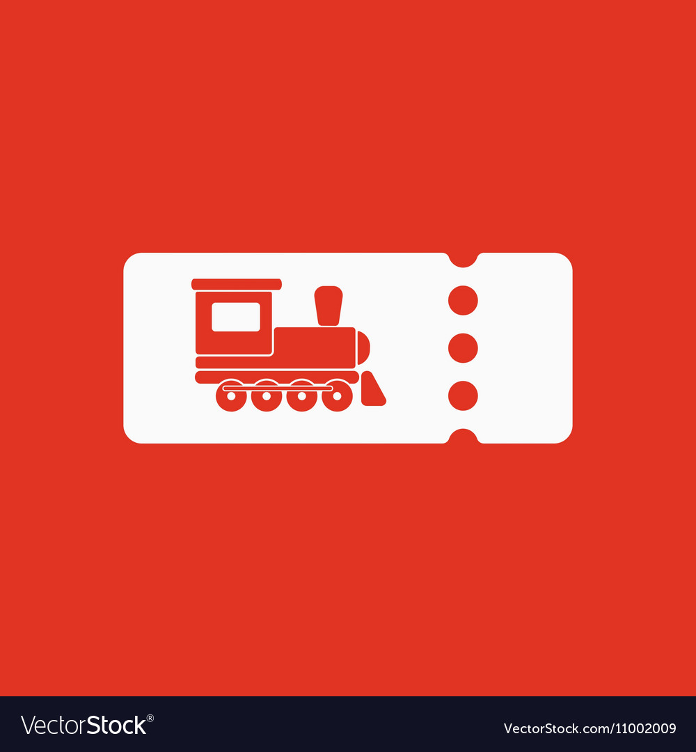 The Blank Train Ticket Icon Travel Symbol Flat Vector Image