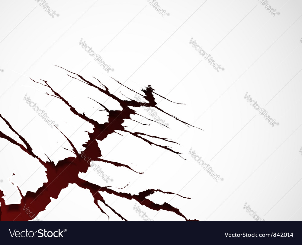 Background with crack vector image