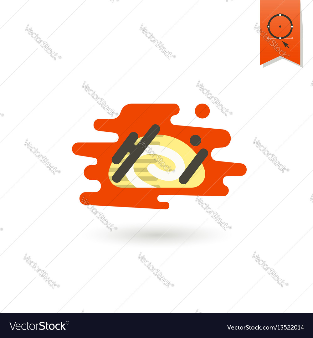 Chocolate roll cake vector image