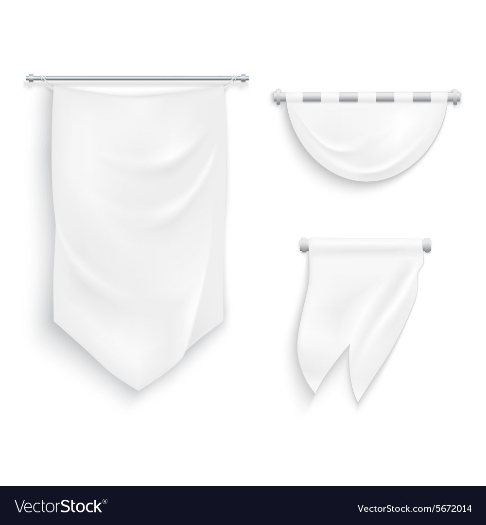 Medieval ribbons set vector image