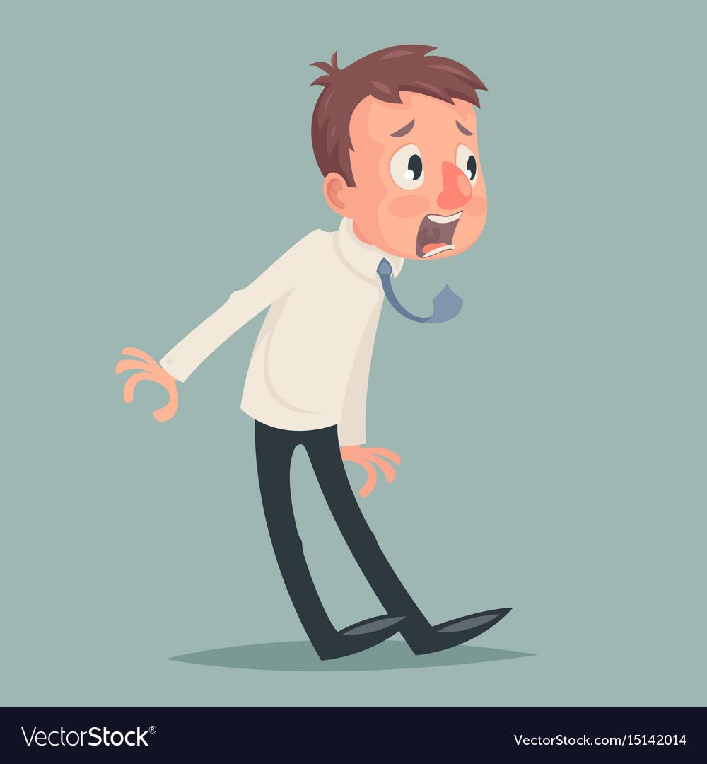Shok emotion fear horror depression stress vector image