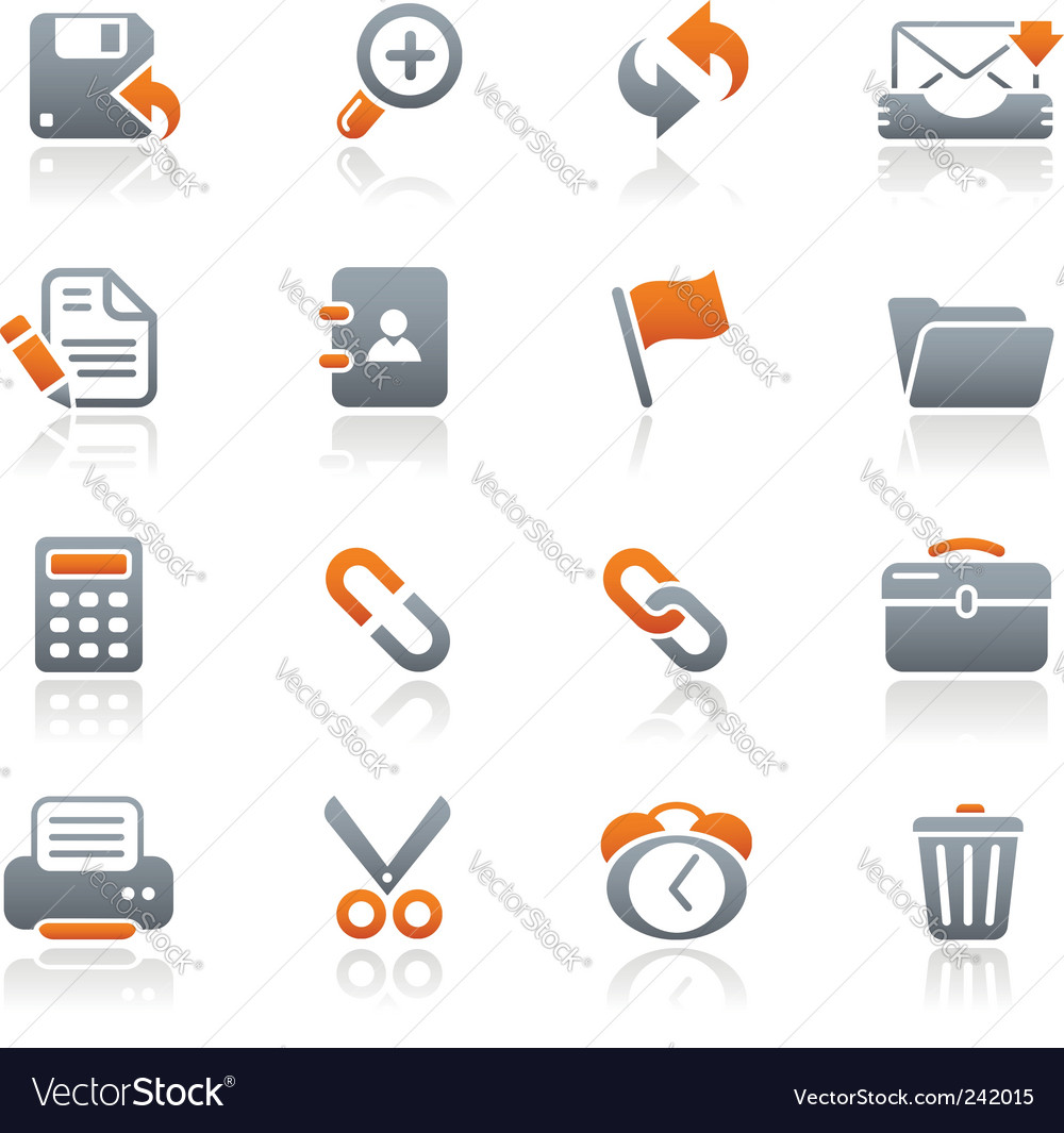 Interface web icons  vector image