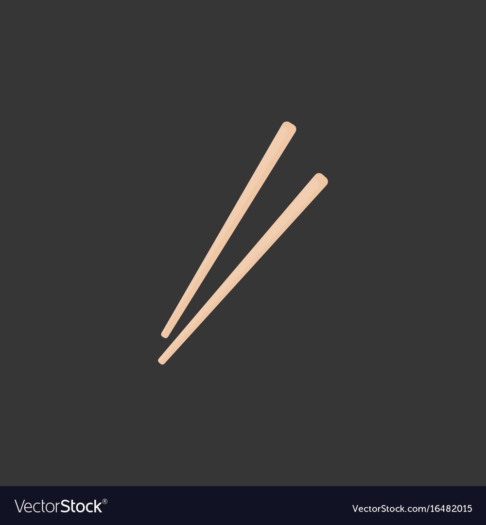 Chopsticks flat icon vector image