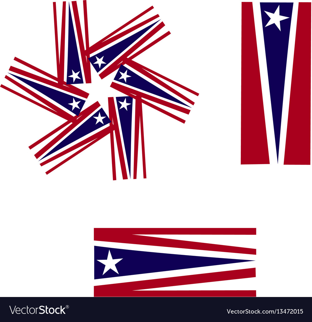 Usa flags symbol icon logo vector image